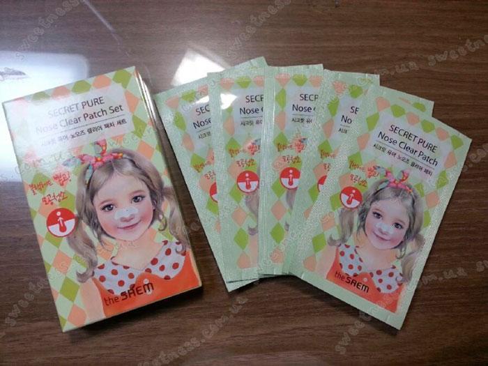 The Saem Secret Pure Nose Clear Patch Set Набор пластырей для носа от черных точек, 8шт. фото 1 | Sweetness