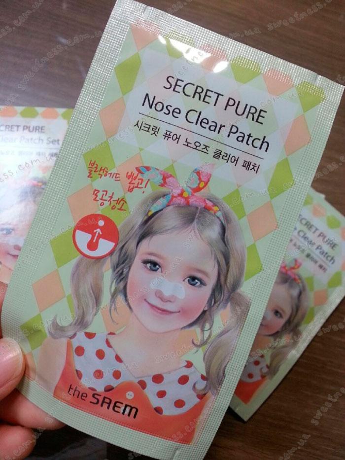 The Saem Secret Pure Nose Clear Patch Set Набор пластырей для носа от черных точек, 8шт. фото 2 | Sweetness
