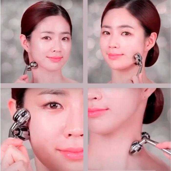 Wellderma Face Lifting Vibration Roller Роликовый вибрирующий массажер для лица и шеи фото 4 / Sweetness